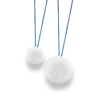 sterile strung cotton balls