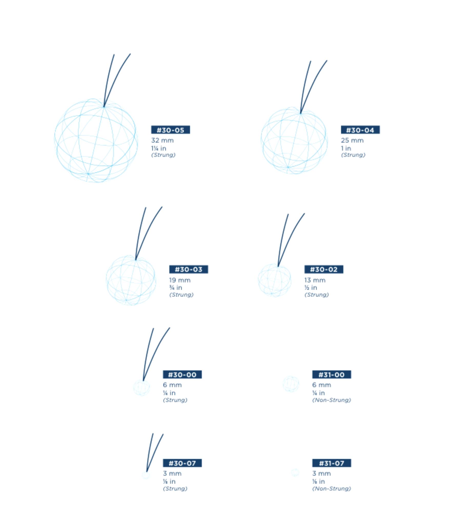 X-Ray Detectable Strung Cotton Balls 1